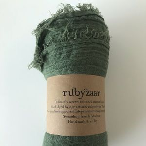 Beautiful Hand dyed green scarf